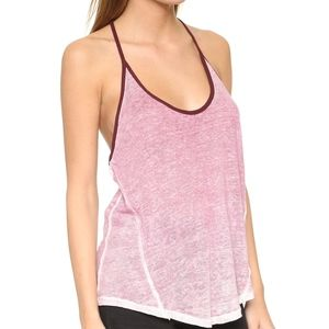 SALE Free people mulberry combo linen T back tank